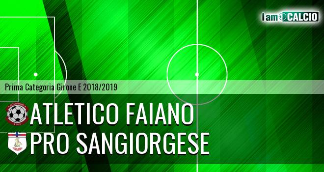 Atletico Faiano - Pro Sangiorgese