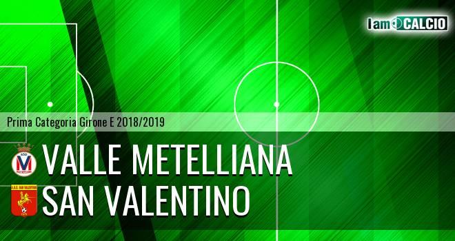 Valle Metelliana - San Valentino