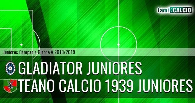 Gladiator Juniores - Teano Calcio 1939 Juniores