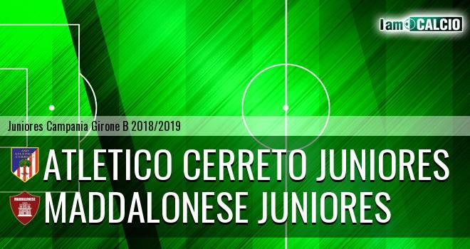 Atletico Cerreto Juniores - Maddalonese Juniores