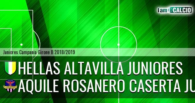 Hellas Altavilla Juniores - Aquile Rosanero Caserta Juniores