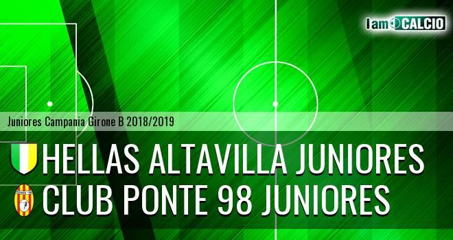 Hellas Altavilla Juniores - Club Ponte 98 Juniores