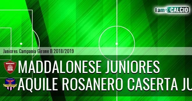 Maddalonese Juniores - Aquile Rosanero Caserta Juniores