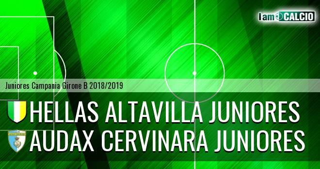 Hellas Altavilla Juniores - Audax Cervinara Juniores