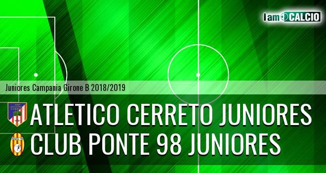 Atletico Cerreto Juniores - Club Ponte 98 Juniores