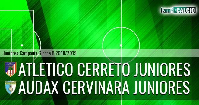 Atletico Cerreto Juniores - Audax Cervinara Juniores