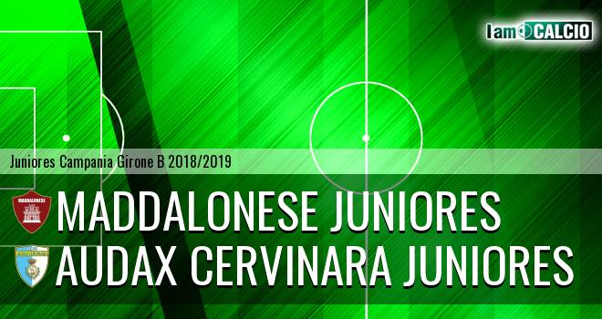 Maddalonese Juniores - Audax Cervinara Juniores