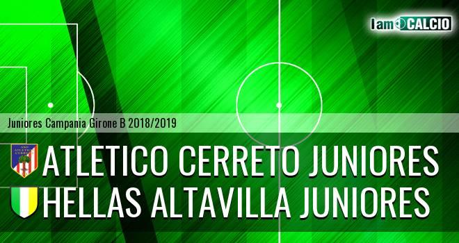 Atletico Cerreto Juniores - Hellas Altavilla Juniores