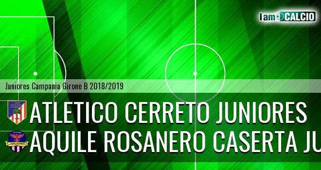 Atletico Cerreto Juniores - Aquile Rosanero Caserta Juniores