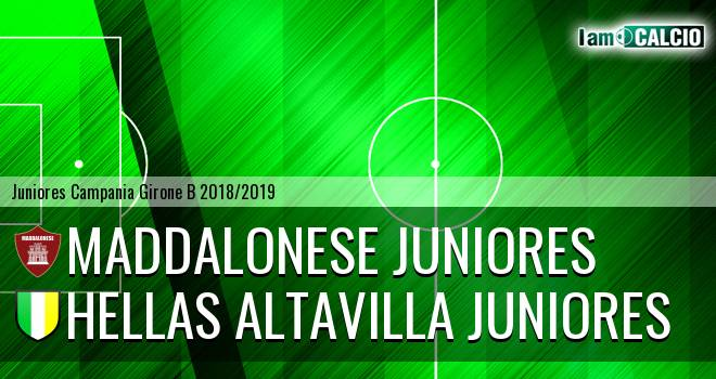 Maddalonese Juniores - Hellas Altavilla Juniores
