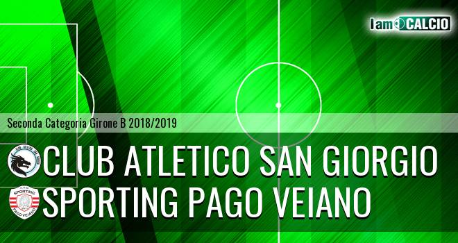 Club Atletico San Giorgio - Sporting Pago Veiano