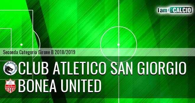 Club Atletico San Giorgio - Bonea United
