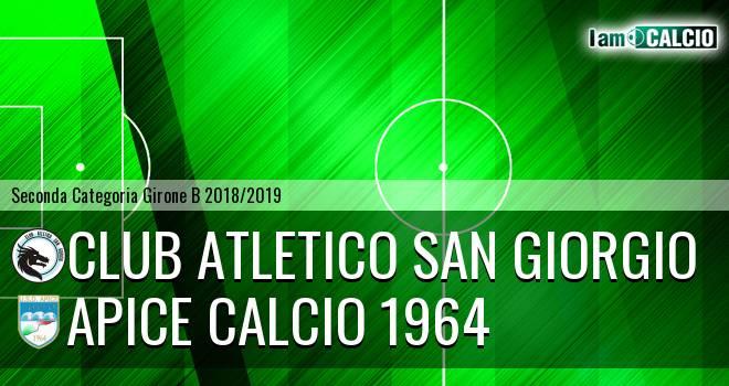 Club Atletico San Giorgio - Apice Calcio 1964