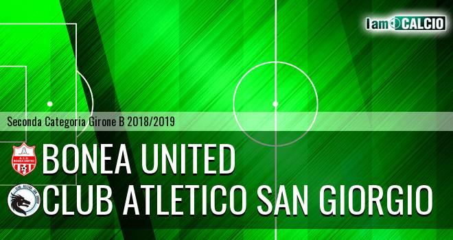 Bonea United - Club Atletico San Giorgio