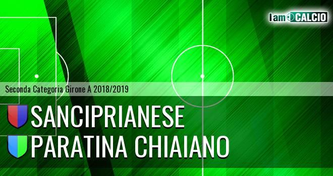 Sanciprianese - Paratina Chiaiano