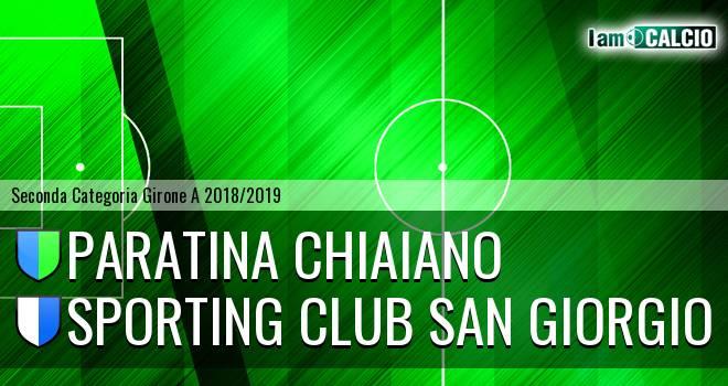 Paratina Chiaiano - Sporting Club San Giorgio