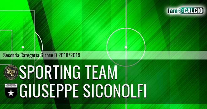 Sporting Team - Giuseppe Siconolfi