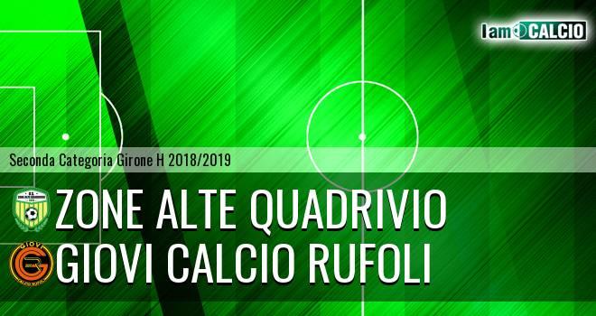 Zone Alte Quadrivio - Giovi Calcio Rufoli