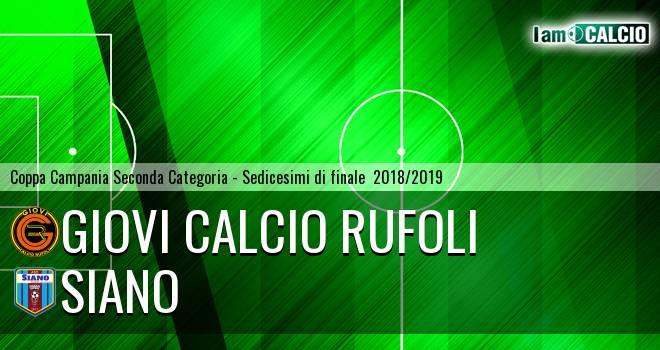Giovi Calcio Rufoli - Siano