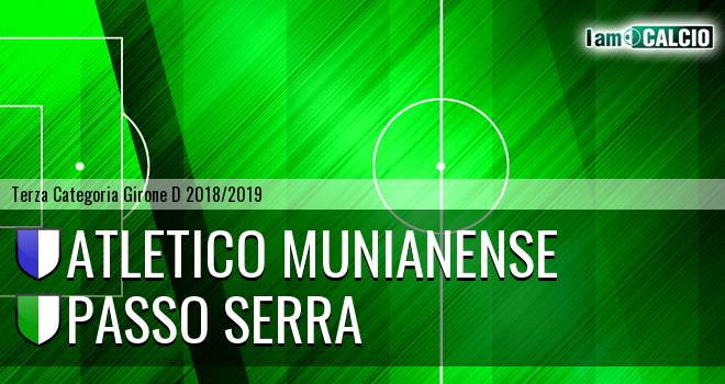 Atletico Munianense - Passo Serra