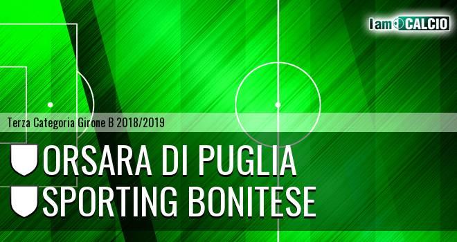 Orsara di Puglia - Sporting Bonitese