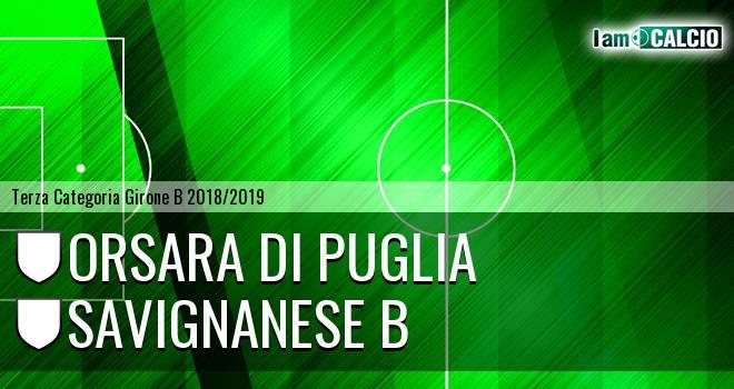 Orsara di Puglia - Savignanese B