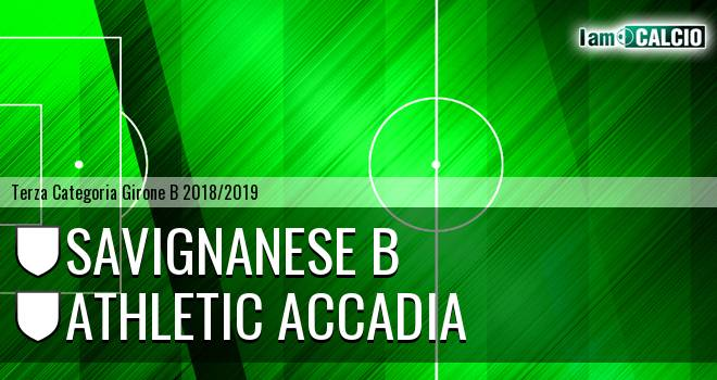 Savignanese B - Athletic Accadia