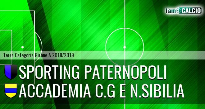 Sporting Paternopoli - Accademia C.G e N.Sibilia