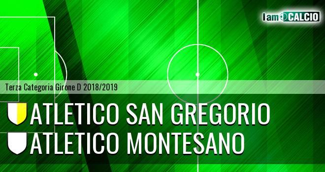 Atletico San Gregorio - Atletico Montesano