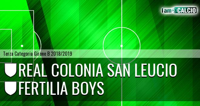 Real Colonia San Leucio - Fertilia Boys