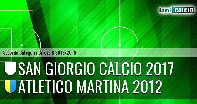 San Giorgio Calcio 2017 - Atletico Martina 2012