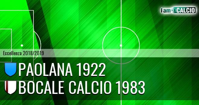 Paolana 1922 - Bocale Calcio 1983