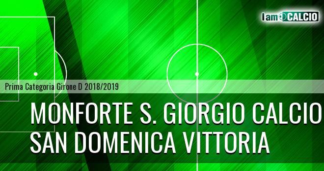 Monforte S. Giorgio Calcio - San Domenica Vittoria