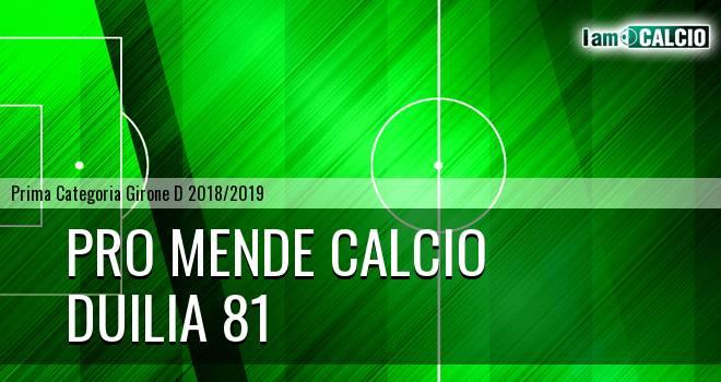 Pro Mende Calcio - Duilia 81