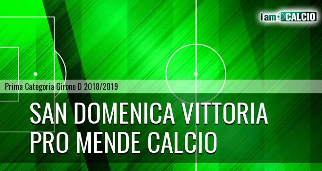 San Domenica Vittoria - Pro Mende Calcio