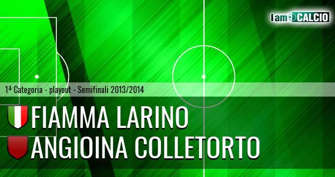 Fiamma Larino - Angioina Colletorto