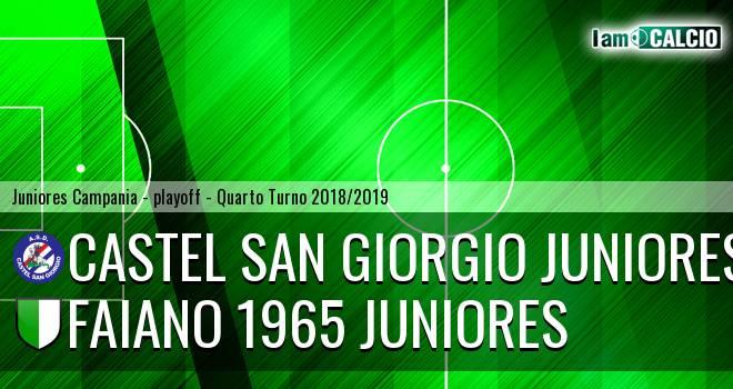 Castel San Giorgio Juniores - Faiano 1965 Juniores
