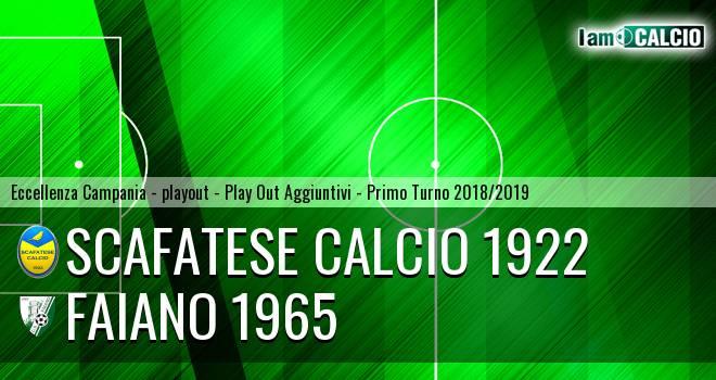 Scafatese Calcio 1922 - Faiano 1965 0-0. Cronaca Diretta 25/05/2019