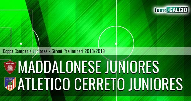 Maddalonese Juniores - Atletico Cerreto Juniores