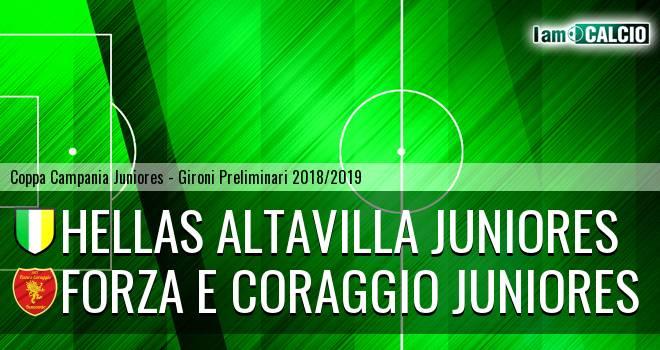 Hellas Altavilla Juniores - Forza e Coraggio Juniores