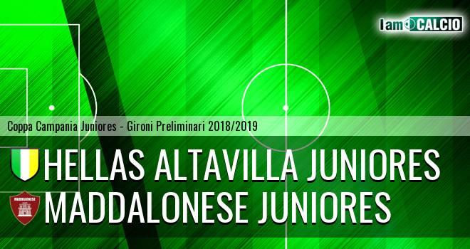 Hellas Altavilla Juniores - Maddalonese Juniores
