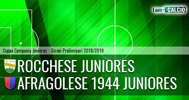 Rocchese Juniores - Afragolese 1944 Juniores
