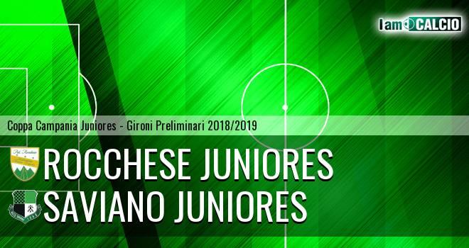 Rocchese Juniores - Saviano Juniores