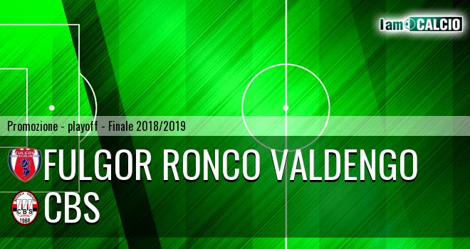 Fulgor Ronco Valdengo - Cbs 2-4. Cronaca Diretta 09/06/2019