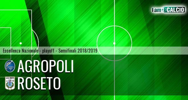 Agropoli - Roseto 3-2. Cronaca Diretta 19/05/2019