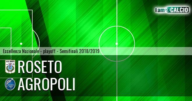 Roseto - Agropoli 1-2. Cronaca Diretta 26/05/2019