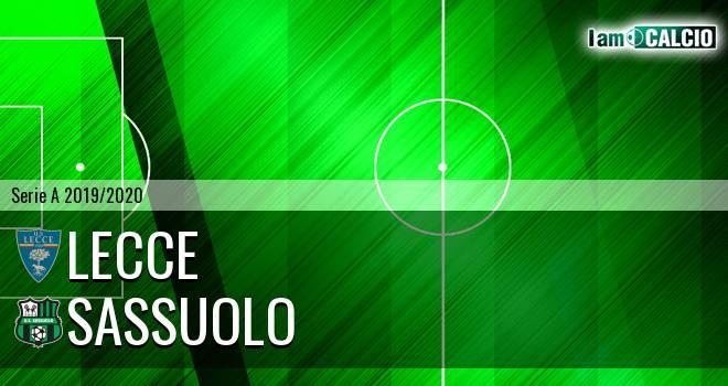 Lecce - Sassuolo 2-2. Cronaca Diretta 03/11/2019