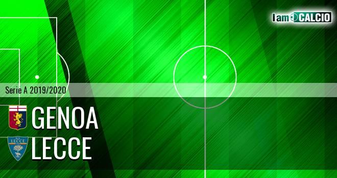 Genoa - Lecce 2-1. Cronaca Diretta 19/07/2020