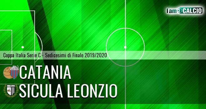 Catania - Sicula Leonzio 1-0. Cronaca Diretta 20/11/2019