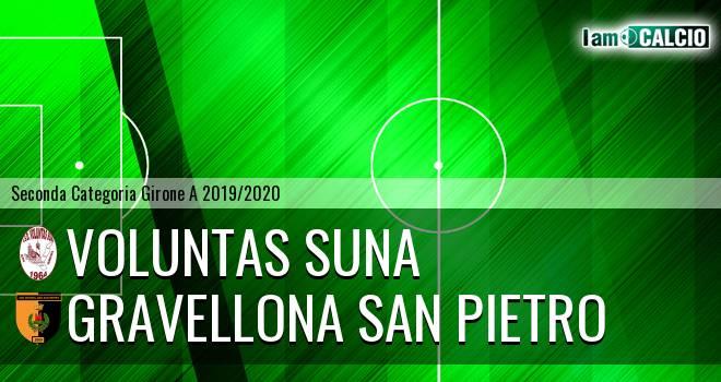 Voluntas Suna - Gravellona San Pietro 3-4. Cronaca Diretta 27/10/2019